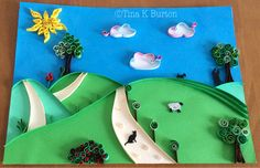 Quilled picture. I wanted to do a whole quilled picture and this is the result. - by:  Tina K. Burton