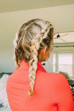 Workout Hairstyles, Twist Hairstyles, Brunette Hair, Easy Workouts, Braids, Dreadlocks, Hair Styles, Pretty, Cute