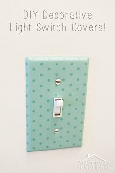How cool is this decorative light switch cover?! All you need is paper and Mod Podge! http://www.practicallyfunctional.com/diy-decorative-light-switch-covers/