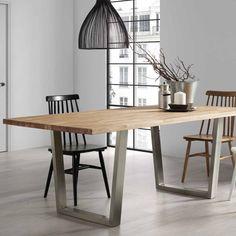 gambe in ferro x colore nero per tavolo da pranzo fino a 250 cm ... - Legno Garner Tavolo Da Pranzo Estensione