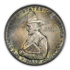 PILGRIM 1920 50C Silver Commemorative PCGS MS66 (CAC) #LSRC #PCGS #CAC #COMMEM #PILGRIM #SILVER #TONER