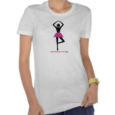 Dancing ballerina black, hot pink custom t-shirt