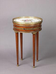 Louis XVI round table with sevres top    18th century    metropolitan museum