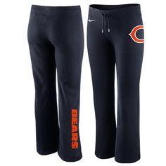 Nike Chicago Bears Women's Tailgater Fleece Pants - Navy Blue