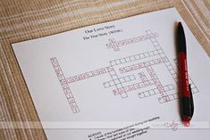 Create a custom crossword puzzle for your sweetheart! www.TheDatingDivas.com #printable #love #free