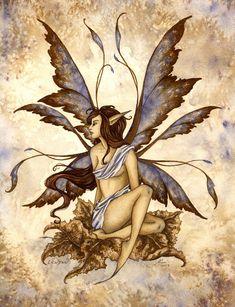 Amy Brown Eilwynn - such a beautiful fairy! Amy Brown Fairies, Elves And Fairies, Dark Fairies, Beautiful Fantasy Art, Beautiful Fairies, Beautiful Artwork, Fairy Dust, Fairy Land, Elves Fantasy