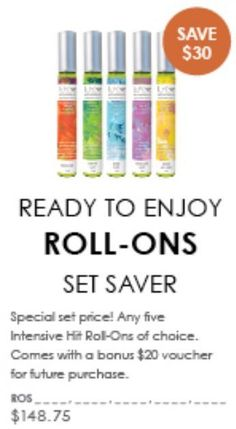 Amazing Set Savers... Ready to enjoy, intensive hit roll-ons are great to keep in your handbag, or gym bag. Contact me on 0429053777 for more information about the these amazing products :) #lovelereve #intense