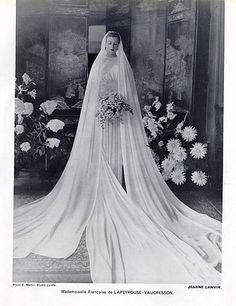 Jeanne Lanvin 1937 Wedding Dress, Fashion Photography C.Martin