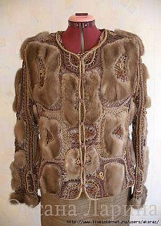 Вязание с мехом. Crochet Coat, Crochet Tunic, Freeform Crochet, Irish Crochet, Crochet Clothes, Chanel Couture, Collar Macrame, Fur Fashion, Crochet Designs