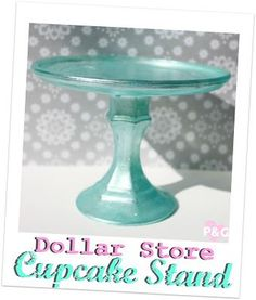PitterAndGlink: { Dollar Store Cupcake Stand} -- this is what the deer snow globe ornament is displayed on in one of her photos.  Perfect!