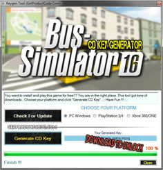 Bus Simulator 16 CD Key Generator 2016