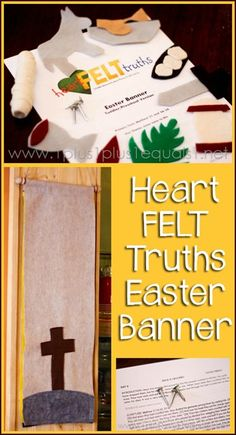 Heart FELT Truths Easter Banner ~ a review from @{1plus1plus1} Carisa