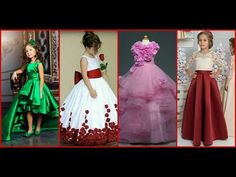 Latest party gown for little girls/Dresses designs for kids/Frill frock designs ideas for wedding - YouTube