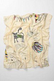 zoological gala scarf