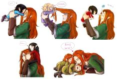 Maedhros (Maitimo) with his brothers - Maglor, Celegorm, Caranthir, Curufin and Ambarussa (Amrod and Amras)