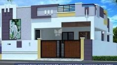 House Exterior Colors Small Trendy Ideas – Home decoration ideas and garde ideas Single Floor House Design, Unique House Design, Bungalow House Design, House Outside Design, House Front Design, Door Design, Wall Design, 2bhk House Plan, Dream House Plans