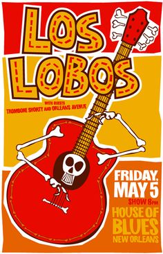 GigPosters.com - Los Lobos - Trombone Shorty - Orleans Avenue