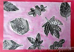Kids Artists: grade 6  patterned leaves