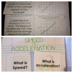 Force and Motion Interactive Notebook (INB) Templates - Average Speed and Acceleration.