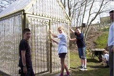 Eco Factor: Recycled greenhouse made from plastic waste.Scotland-based REAP, a local sustainable development charity, has designed a greenhouse that helps you grow organic veggies and fruits using trashed plastic bottles and other unwanted materials. The DIY greenhouse can be made using 1,500 two liter plastic bottles with the tops and bottoms separated