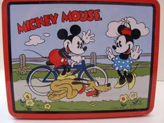 antique lunch boxes | Vintage Mickey Mouse Tin Lunch Box by VintageResurrected on Etsy