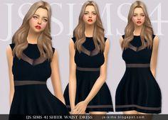 JS Sims 4: Sheer Waist Dress • Sims 4 Downloads