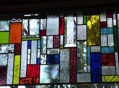 Splash of Color Custom Stained Glass Window Panels Bevels and Translucent COLOR suncatcher via Etsy