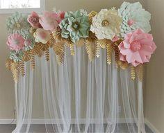 Set de flores de papel gigantes. Sólo flores. flores gigantes