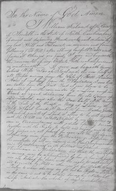 Reflecting on Genealogy: Friend of Friends Friday - Will of William Ireland, Iredell County, North Carolina, 1796