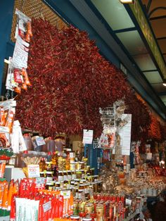 """furiosity: """" Dried peppers on sale at the Great Market Hall in Budapest. """""""