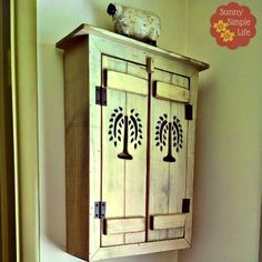 A shallow wall cabinet to hide wall jacks