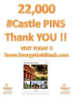 22,000 Pins about #Castles  Thank you for pinning on https://www.pinterest.com/snowambit/everything-castles/  Leave a comment if you want to pin #castles.  Join us also at http://snow.EnergyGoldRush.com