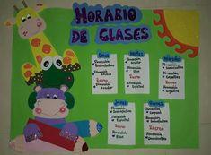 Horario de clases animales hecho en foami Crafts, Class Schedule, Class Decoration, Preschool, Classroom, So Done, Manualidades, Handmade Crafts, Craft