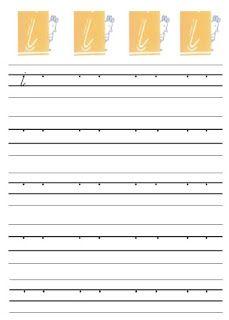 Letter schrijfwerkbladen (kern 1)