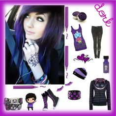 """Purpley awsomeness"" by cutlesscruelty ❤ liked on Polyvore"