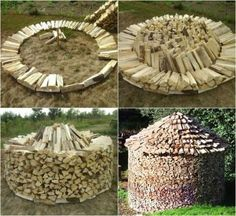 Discover thousands of images about Stacking firewood Outdoor Firewood Rack, Firewood Shed, Firewood Storage, Stacking Firewood, Stacking Wood, Outdoor Projects, Wood Projects, Log Shed, Wood Store