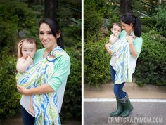 Hold your baby clothes to your heart with this ring baby sling from @Maria @ Craft Crazy Mom! Adorable fabric from @Waverly!