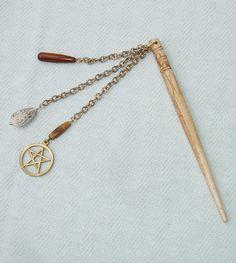 Buffalo Bone Pentagram Hair Stick