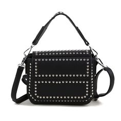 2017 New Women Mini Messenger Bag Small Rivets PU Leather Female Shoulder Bags for Teenage School Girls Mochila Mujer