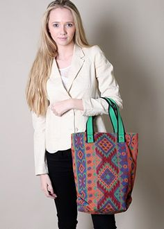 Eco Friendly Mayan Aztec Southwestern Tapestry Tote Bag: Handbags: Amazon.com