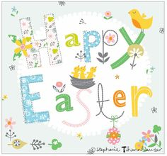 Ric-Rac: Have an egg-tastic time! Easter, Easter Chicks, Fonts, Easter eggs, florals