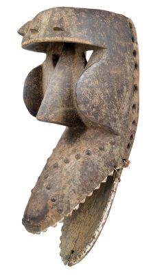 Dan/Kran/We, Ivory Coast, Liberia: An old crocodile-mask with hinged jaw.