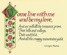 Quotes, Poetry, Bible Verses, Song Lyrics in Calligraphy by Margaret Davis