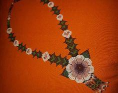 Gran collar Huichol SEA por YumArtsAndCo en Etsy