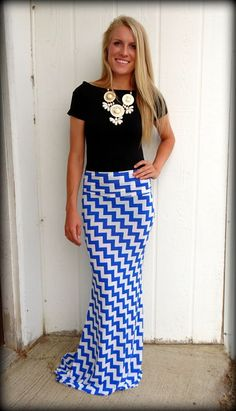 ♥ZIG ZAG MAXI SKIRT / BLACK TOP / MID DRIFT TOP / SUMMER STYLE ...