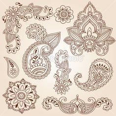 paisley leafy clip art | Pin Vector Illustration Swirl Tattoo Image 4505595 on Pinterest