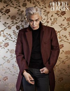 BIGBANG member T.O.P (Choi Seung Hyun) covers 2015 January issue of men's magazine L'officiel Hommes. T.O.P has recently dyed his hair white, for his character in a new film, to look more chic and . T.o.p Bigbang, Daesung, 2ne1, K Pop, Got7, Ringa Linga, Kdrama, Lee Hi, Sung Lee