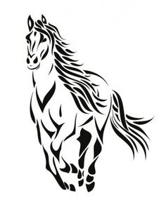 Vecteurs pour Cheval, Illustrations libres de droits pour Cheval | Depositphotos® Tribal Horse Tattoo, Horse Tattoos, Horse Drawings, Art Drawings, Image Tribal, Horse Outline, Horse Wall Decals, Arte Tribal, Temporary Tattoo Designs