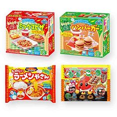 Ninjapo Wrapping Kracie Japanese DIY Candy Popin Cookin  Happy Kitchen J set Assortment of Pizza Hamburger Ramen Takoyaki total 4 >>> Visit the image link more details. Note:It is affiliate link to Amazon.