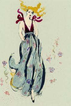 Fashion illustrator Tippan Nordén. Ink, crayon, watercolor, hand drawn. Illustratrice de mode. Illustrations dessinées à la main. Encre aquarelle. ELLE Italy, H&M, Acne.